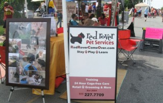 Red Rover Pet Services Booth at Oktoberfest in Germantown