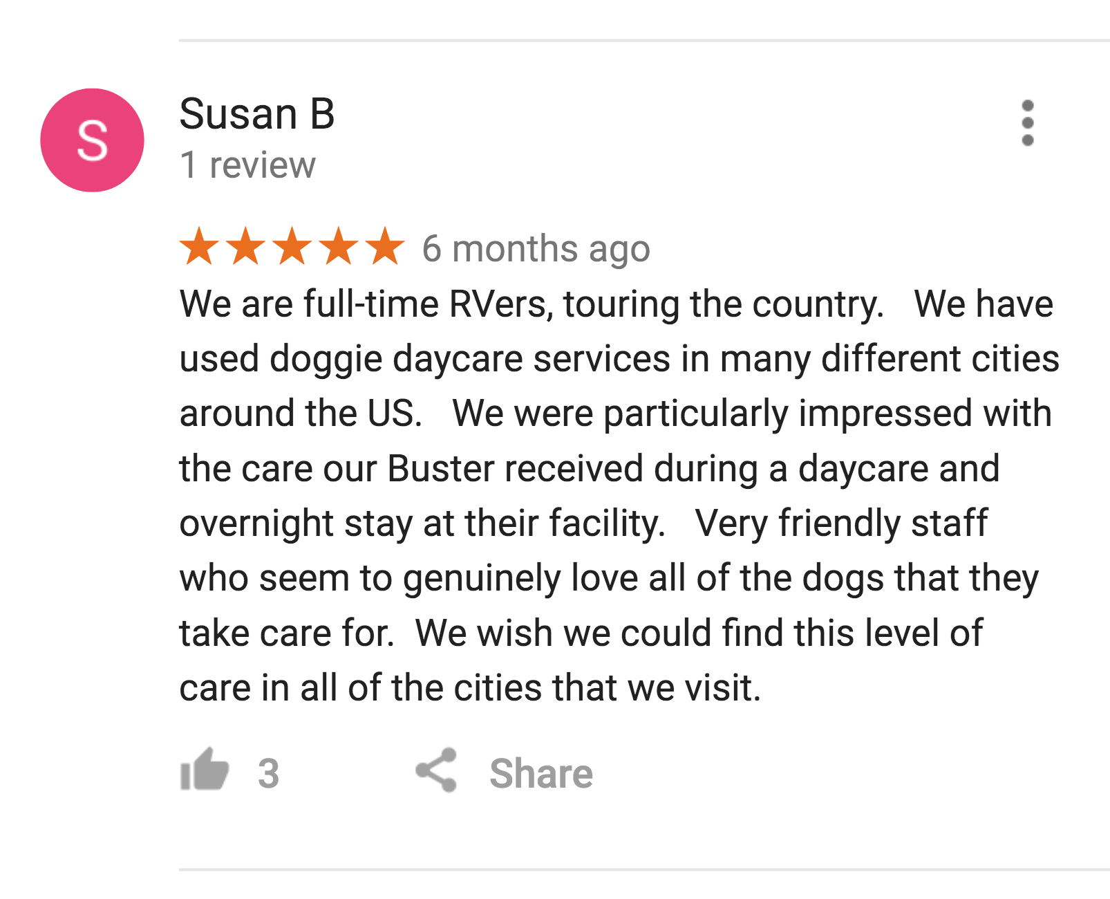 An RVer's Review of Red Rover Pet Services LLC Dog Daycare and Boarding in Nashville, TN